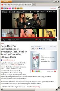 Gawker.com: Gotye Uses Fan Interpretations of 'Somebody That I Used to Know' to Create the Ultimate Cover